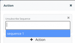 action-unsubscribe sequence