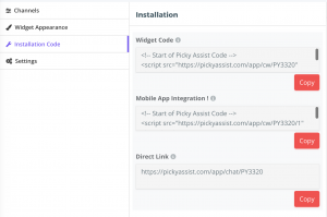 widget-installation-code